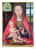 Madonna and Child, from the Diptych of Maerten Van Nieuwenhove, 1487 Giclee Print by Hans Memling
