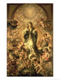 Immaculate Conception, 1670-1672 Giclée-Druck von Juan de Valdes Leal