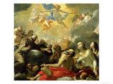 Christ in Glory with the Saints, c.1660 Giclee Print by Mattia Preti