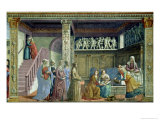 The Birth of the Virgin, 1486-90 Giclée-tryk af Domenico Ghirlandaio