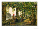 Verandah with Twisted Vines, 1828 Giclee Print by Silvestr Fedosievich Shchedrin