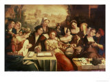 The Prodigal Son Feasting with Harlots Giclée-Druck von Jan Cornelisz Vermeyen