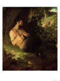 Faun and Nymph, 1868 Giclee Print by Merse Pal Szinyei