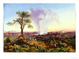 Victoria Falls at Sunrise, with The Smoke, c.1863 Giclee Print by Thomas Baines