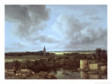 Landscape with Ruined Castle and Church, c.1665-70 Giclee Print by Jacob Isaaksz. Or Isaacksz. Van Ruisdael