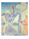 The Clocktower at St. Tropez, 1896 Gicledruk van Paul Signac