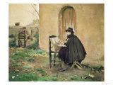 Rusinol and Casas Painting, 1890 Giclee Print by Ramon Casas