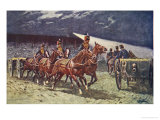 The Royal Horse Artillery Drive at the Searchlight Tattoo Giclee Print by William Barnes Wollen