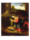 Our Lady Worshipping the Child, c.1518-20 Giclee Print by  Correggio