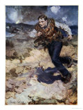 Heroic Middy Carrying Ammunition to the Hard-Pressed British Fighters Giclee Print by Cyrus Cuneo