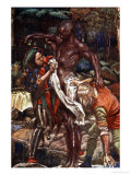 Fool and Want-Wit, Washing a Man, from The Pilgrim's Progress by M. Macgregor, Pub. Jack, 1907 Giclee Print by John Byam Shaw