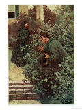 She Was Continually Beset by Spies Giclee Print by Howard Pyle