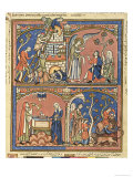 Abimelech and Samson, from the Morgan Picture Bible, c.1244-54 Giclee Print