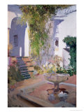 Garden Grotto, Alcazar de Seville, 1910 Giclee Print by Joaqu&#237;n Sorolla y Bastida