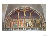 The Crucifixion, with SS. Cosmas, Damian, Francis and Bernard, 1442 Giclee Print by  Fra Angelico
