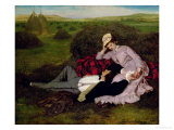 The Lovers, 1870 Giclee Print by Merse Pal Szinyei