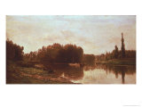 The Confluence of the River Seine and the River Oise Giclee Print by Charles-Francois Daubigny