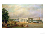 James Prinsep's Memorial, on the Hooghli River, Calcutta Giclee Print by William Prinsep
