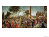 The Martyrdom of the Pilgrims and the Funeral of St. Ursula, from the St. Ursula Cycle, 1490-94 Giclee Print by Vittore Carpaccio