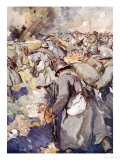 The French Force Rushed Forward to Take Possession of 'The Crater Giclee Print by Cyrus Cuneo