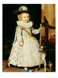 Portrait of a Young Boy with a Golf Club and Ball Giclee Print by Jan Anthonisz. van Ravestyn