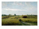 The Harvest, 1851 Giclee Print by Charles-Francois Daubigny