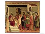 Maesta: Jesus Before Herod, 1308-11 Giclee Print by  Duccio di Buoninsegna