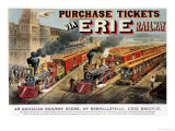 The American Railway Scene at Hornellsville, Erie Railway Giclee Print by Currier & Ives