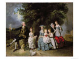 Group Portrait of the Colmore Family Giclee Print by Johann Zoffany