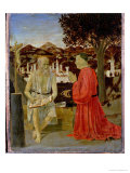 St. Jerome with a Man Kneeling in Devotion, 1450 Giclee Print by Piero della Francesca
