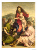 The Virgin and Child with a Saint and an Angel, c.1522-23 Giclee Print by  Andrea del Sarto
