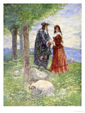 They Took a Sad Farewell of Each Other, Our Island Story Marshall, c.1905 Giclee Print by A.s. Forrest