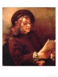 Titus Reading, c.1656-57 Giclee Print by  Rembrandt van Rijn