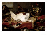 Still Life of Game and Shellfish Giclee Print by Frans Snyders Or Snijders