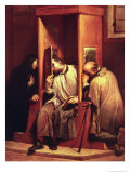 Nepomuk Takes the Confession of the Queen of Bohemia Giclée-tryk af Giuseppe Maria Crespi