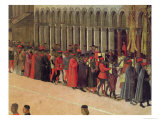 Procession in St. Mark's Square, Detail of Musicians, 1496 Giclée-tryk af Gentile Bellini