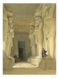 Excavated Temple of Gysha, Nubia, from Egypt and Nubia, Vol.1 Giclee Print by David Roberts