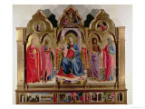 Virgin and Child Enthroned with Four Angels, from the Polittico Di San Domenico Giclee Print by  Fra Angelico