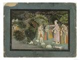 Nanda Asking Radha to Escort Krishna Home, from the Gita Govinda, Garhwal, c.1790 Giclee Print