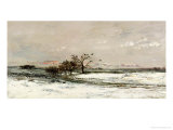 The Snow, 1873 Giclee Print by Charles-Francois Daubigny