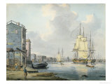 The Thames at Rotherhithe, c.1790 Giclee Print by William Anderson