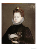 Infanta Isabella Clara Eugenia, Daughter of Philip II of Spain Giclee Print by Alonso Sanchez Coello