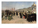 Religious Procession in the Province of Kursk, 1880-83 Giclee Print by Ilya Efimovich Repin