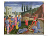 The Martyrdom of St. Cosmas and St. Damian, from the Predella of the San Marco Altarpiece, c.1440 Giclee Print by  Fra Angelico