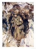Brave Nurses in the Retreat of the Serbian Army Giclee Print by Cyrus Cuneo