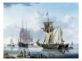 Shipping in an Estuary, Possibly the Lower Reaches of the Thames Giclee Print by William Anderson