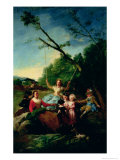 The Swing Giclee Print by Francisco de Goya