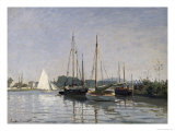 Pleasure Boats, Argenteuil, c.1872-3 Giclee Print by Claude Monet