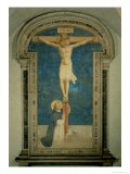 Christ on the Cross Adored by St. Dominic Giclee Print by  Fra Angelico