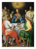 The Supper at Emmaus, 1525 Giclée-tryk af Jacopo da Carucci Pontormo